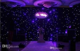 Wholesale Led Lights For Backdrop - Blue-White Color LED Star Curtain Wedding Stage Backdrops Cloth With Lighting Controller For Wedding Centerpieces Decoration Supplies
