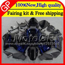 Wholesale Suzuki Hayabusa Blue - Body For SUZUKI Hayabusa Blue black GSXR1300 96 07 2002 2003 2004 41GP44 GSX R1300 GSXR-1300 GSXR 1300 2005 2006 2007 Motorcycle Fairing