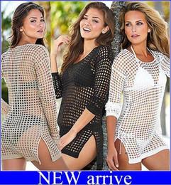 Wholesale Crochet Beach Wear - newest!Women Crochet Swimwear Swimsuit Bikini Beach Cover Up Blusas Femininas Moda Praia Swimsuits Beach Wear Dress free shipping