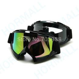 SCHWARZ Motorrad Ski Fahrrad Schutzbrille Motocross Dirt Bike Brille UV400 Scooter 2 Linse von Fabrikanten