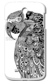 Wholesale Custom S4 Cases - Wholesale-Cool Cartoon Black And White Animal pattern Cute Custom Printed protective back Hard Case Cover for Samsung galaxy S IV s4 i9500