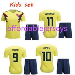 2018 World Cup Cheap Precio bajo Camisetas de Futbol Colombia ninos bambino  Youth Top Quality Camisetas de fútbol para niños Set de pantalón de fútbol 48b398f9a3782