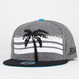 Wholesale Trees Snapback - Wholesale-2015 hot new fashion blvd trees baseball snapback hats and caps for women men's sun hat hip hop street sports cap free