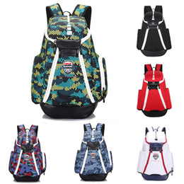 Wholesale Usa Packaging - New USA Bag Men Backpacks Basketball Bag Sport Backpack School Bag Outdoor Backpack Multifunctional Package Knapsack Laptop Bags