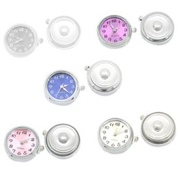 Wholesale Charm Watches Sale - Hot sale NOOSA Snap Button Crystal Snap Watch Charms Jewelry Interchangeable Jewelry Accessory christmas gift D463M