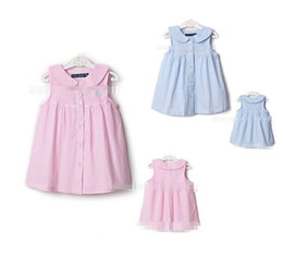 Wholesale Wholesale Dres - 10%OFF2015 NEW ARRIVAL!1-5yrs,3 colors 5pcs,baby girls princess dress,Solid color brand vest cute dress,100% cotton Sleeveless children dres