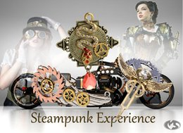 Wholesale Steampunk Owl Pendant - Assorted Models Vintage Steampunk Owl Butterfly Anchor Heart Gear Eagle Pendant Necklace Retro Punk Jewelry For Men Women