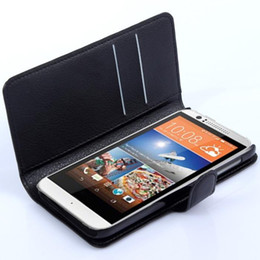 Wholesale M7 Wallet - Book style Litchi leather Cover stand wallet Case with slots For HTC desire 820 816 700 616 610 601 516 316 510 500 400 310 300 210 M7 M8