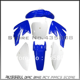 Wholesale Dirt Bike Body - Good quality Motorcycle Dirt Bike Body Plastic Fender For Honda 70 CRF70 CRF 70 4+3 Blu+Whi
