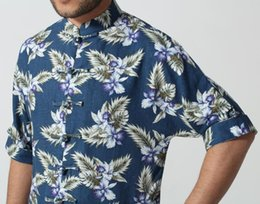 Wholesale Classy Clothing - Wholesale-New arrived Chinese Men's Classy Linen clothing tops summer shirt short sleeves Navy blue Sz:S M L XL