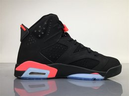 Wholesale Infrared Hunting - AIR RETRO 6 BLACK INFRARED 23-BLACK NOIR ROSEIN-NOIR BASKETBALL SHOES AIR CUSHION SNEAKERS SPORT SHOE FOR ONLINE SALE