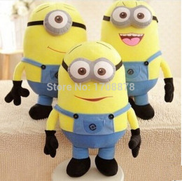 Wholesale Despicable Plush 25cm - Wholesale-Approx 10inches 25cm Hot Movie Despicable ME Plush Toy Minion Jorge Stewart Dave NWT With Tags