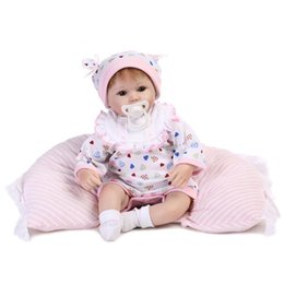 Wholesale Silicone Realistic Baby Dolls - Wholesale- NPK 42CM bebe doll reborn menino realistic silicone reborn babies dolls toys soft touch kids birthday gift bonecas
