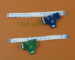 Wholesale Led Controller Boards - LED Power Charge Board socket Ribbon Cable for PS4 Wireless Controller 12 PIN 14 pin board and 12PIN 14PIN cable