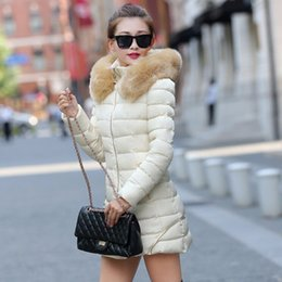 Wholesale Lowest Price Down Jackets - Wholesale-lowest price 2015 New design Women Winter Coat raccoon Fur Collar Warm Coats Woman Long Outerwear Thicken Parkas Down Jacket For