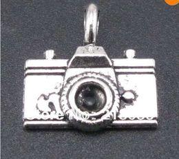Wholesale Metal Charms Pendants Silver Camera - Free Shipping Wholesale Fashion 100pcs Tibetan Silver Camera Charms Pendants Fit Charms Bracelet Girls Bijoux B339 DIY Metal Jewelry