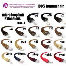 2019 extensions de cheveux micro kératine 100 s Micro Anneau Boucle Extensions de Cheveux 0.5g par support promotion extensions de cheveux micro kératine