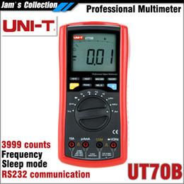 Wholesale Ut Multimeter - Free shipping UNI-T UT70B professional digital multimeter frequency volt amp ohm temp capacitance tester UNI T UT 70B