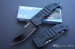 ACERO FRÍO AK47 Cuchillo plegable de supervivencia 7Cr17Mov 57HRC Cuchilla de aluminio de la cuchilla Cuchillos tácticos que acampan al aire libre con la caja al por menor desde fabricantes