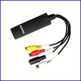 Wholesale Easy Cap Av - Promotion Price New Usb 2.0 Easycap Dc60 Tv Dvd Vhs Video Capture Adapter Easy Cap Card for Audio Av Mmm DHL free shipping