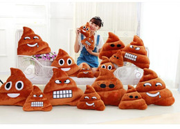 Wholesale 50PCS LJJHH868 Decorative Cushion Emoji Pillow Gift Cute Shits Poop Stuffed Toy Doll Christmas Present Funny Plush Bolster Pillows
