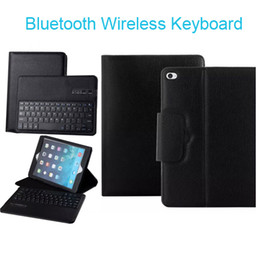 Wholesale Apple Ipad Leather Case Keyboard - For ipad mini   2 3 4 air 5 Luxury Detachable Bluetooth Wireless Keyboard Leather Case Cover With Stand for iPad 3 2 air2