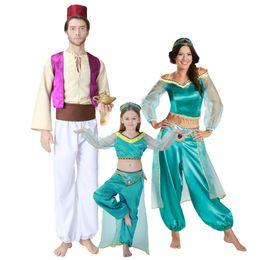 Wholesale Prince Adult Costume - Aladdin Lamp Prince Aladdin Costume Movie Cosplay Costume Adult Women and kids Girl Children Anime Aladdin Princess Jasmine cos