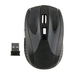 Wholesale Pc Laptop Battery - 2.4GHz USB Optical Blue Light Wireless Mouse USB Receiver for Computer PC Laptop Desktop Without Battery