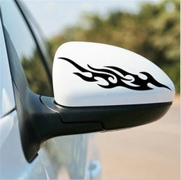 Wholesale R1 Decals - Self Adhesive Chrome Effect Shooting Flame Badge Decal Sticker for Cars %R1
