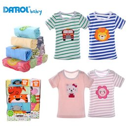 Wholesale Bebe T Shirts - Wholesale-5pcs Brand New Baby boys Summer T-shirt Short Sleeve Little Baby Girl Cartoon Tees Tshirt bebe Shirts Cotton animal Embroidery