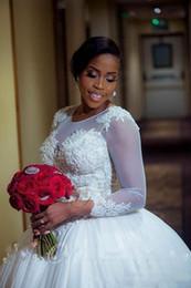 2019 prinzessin stil kristalle schatz Robe de mariage Plus Size Ballkleid Brautkleider Mit Ärmeln 2018 Sheer Appliqued Tulle Handmade Brautkleider