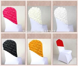 Wholesale Elegant Chair Sashes - New Arrival Elegant Rose Flower Chair Cover Cap,Chair Sash Sashes For Wedding Decoration,Cap cover Chair Wedding