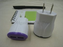Wholesale Mobile Butterflies - Butterfly USB Charger Travel Wall Charger Adapter EU US Plug Smart Mobile Phone Charger NO Tariff channel 4000pcs