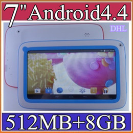 "Wholesale Kids Touch Screen Pads - 10PCS-7 inch 7"" Quad core Kids tablet pc A33 512M 8G 4.4 Android tablet Children Wifi handle for Kids Education Games pad 11-7PB"
