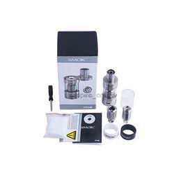 Wholesale Clear Tank Electronic Cigarette - Genuine Smok TFV4 Tanks Electronic Cigarettes Smok TFV4 Atomizer full Kit 5ML Clear Smok Atomizer RBA Sub Ohm Tank