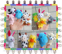 Wholesale Baby Animal Finger Puppets - Baby Kids Plush Toy Finger Puppets Talking Props 10 animals Educational Puppets for Storytelling Story Time Language Skills