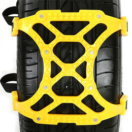 Wholesale Auto Tire Chains - 6pcs Lot Universal Adjustable Auto Car SUV Snowblower Tire Snow Chains Beef Tendon Wheel Tyre Anti-skid TPU Chains for Mug Ice Road