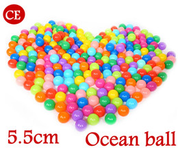 Wholesale Kids Swimming Item - 100pcs 5.5cm Secure Baby Kid Pit Toy Swim Fun Colorful Soft Plastic Ocean Ball