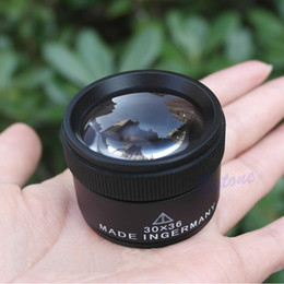 Wholesale Glass Inspection - 30x36mm Jeweler Optics Loupes Magnifier Magnifying Glass Lens Loop Microscope-PY order<$18no track