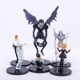 Wholesale Death Notes - Wholesale-6pcs set Anime Death Note L Killer Ryuuku Rem Misa Amane PVC Action Figures Toys