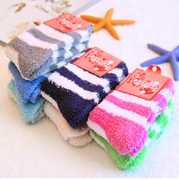 Wholesale Striped Terry Socks - Fuzzy Socks Women Winter Warm striped High Quality Towel Candy Color Thick Floor Thermal Girls ladies Socks