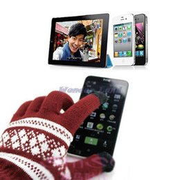Wholesale Galaxy Wonder - Wholesale-Wonder Land-Soft Gloves Screen Touch for Pad for iPhone 4S 5S 6 for Galaxy Tablet Tab PC MP4 Phone