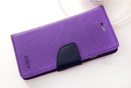 Wholesale Galaxy Grand Tpu Case Cover - Mercury Wallet leather PU TPU Hybrid Soft Case Folio Flip Cover for Samsung Galaxy Grand 2 G7106 Neo 9080 Win i8552 Alpha G850 with Package