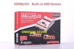 Wholesale Computer Tvs - HDMI AV Out Put Mini FC Video Game Console NES HD Edition Family Computer Built-in 600 Classic Games for Mini NES Classic Game Collection