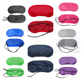 Wholesale Office Health - 14 Colors Eye Mask Eye Shade Nap Cover Travel Office Sleep Rest Aid Cover Blindfold Sleeping Eye Mask Health Care CCA8152 500pcs