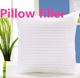 Wholesale polyester filled pillows - The Pillow Filler White Pad Insert Soft Sofa Chair 40-45cm The Size Of The PP Cotton Car Cushion Pillow Filled