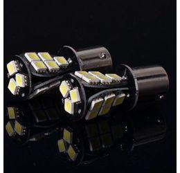 Wholesale Rear Brakes - 1157 1141 1156 BA15S BA15D P21W Xenon 18 LED SMD CANBUS DRL WHITE 5050 ERROR FREE REVERSE