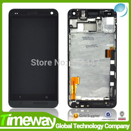 Wholesale M7 Touch - Wholesale-Copy AA replacement for htc ONE M7 LCD and touch Assembly for HTC one lcd complete display with frame