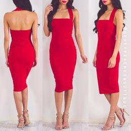 Wholesale Designer Lady S Dresses - Wholesale-High Quality Women Fashion Sexy Red Rayon Bandage Dress 2016 Ladies Designer Bodycon HL Bandage Dress