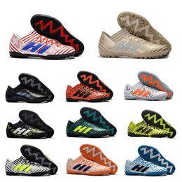 Wholesale Soccer Indoor Shoes Messi - Hots Sale 2018 100% Original Nemeziz Messi Tango 17.3 TF Soccer Shoes Mens Soccer Boots Indoor Soccer Cleats